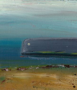 Cullercoats Harbour North East England OIl on Panel ©Eleanore Ditchburn, 13 x `18 cm Oil on panel
